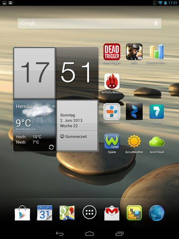 Iconia A1 Homescreen