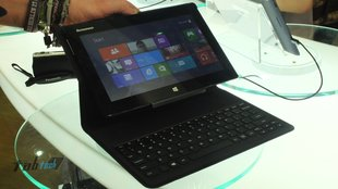 Lenovo MIIX: 10,1 Zoll Windows 8 Tablet mit Tastatur-Case im Hands-On Video