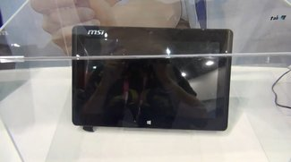 MSI W20 3M: 11,6 Zoll Windows 8 Tablet mit AMD Temash A4-1200 im Video