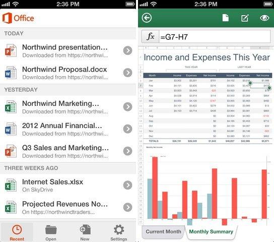Microsoft veröffentlicht Office Mobile für iOS und Office 365 Kunden