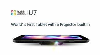 SmartQ U7: Android Tablet mit eingebautem Beamer im Hands-On Video