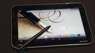 Toshiba Excite Pure, Pro und Write - Tegra 4,  2560 x 1600 Pixel und Digitizer