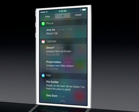 ios7 notificationcenter