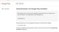 Google Play Store Geschenkkarten in Deutschland gestartet