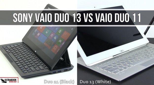 Sony Vaio Duo 13 im Vergleich mit dem Vaio Duo 11