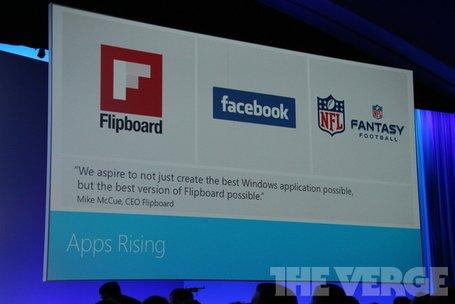 100.000 Apps im Windows Store - Facebook und Flipboard Apps angekündigt