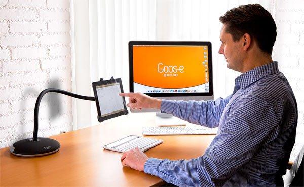 Goos-e: Die flexible Tablet-Halterung für iPads