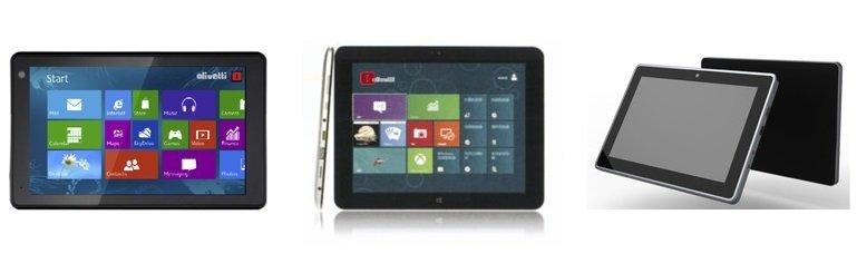 Olivetti listet erste Windows 8 Bay Trail Tablets mit 8.1, 9.7 und 10.1 Zoll Displays