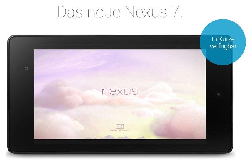 Nexus 7 (2013): Anmeldung zur Benachrichtigung bei Verfügbarkeit in Deutschland möglich