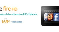 Amazon Kindle Fire HD sinkt erneut um 30€ auf nur noch 169€