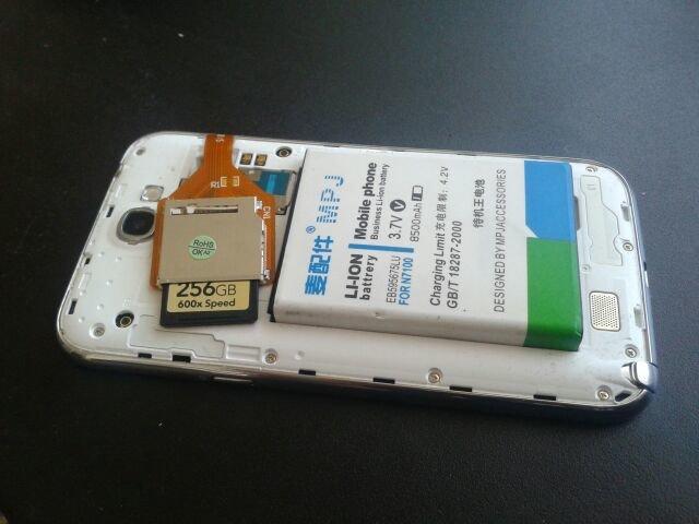 Eigenbau: Samsung Galaxy Note 2 mit 8.500-mAh-Akku und 256 GB mehr Speicher