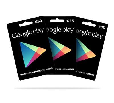 Offiziell: Google Play Geschenkkarten in Deutschland gestartet
