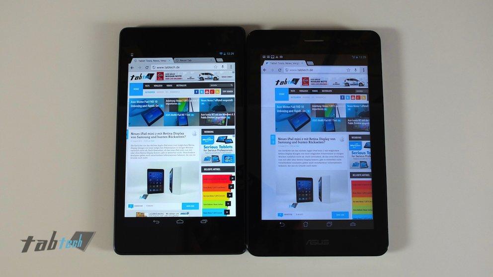 Nexus 7 2013 vs. FonePad