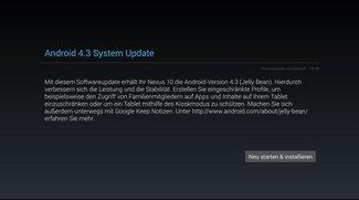 Android 4.3 Update Build JWR66Y wird für Nexus Geräte ausgerollt