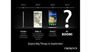 Oppo N1: Kamera-Smartphone mit Touchpad auf der Rückseite im September