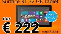 Deal: Microsoft Surface RT ab 12 Uhr nur heute für 222€
