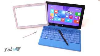 Samsung Galaxy Note 10.1 (2014 Edition) vs. Surface 2 &amp&#x3B; Surface Pro 2 im Vergleich