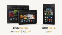 Amazon Kindle Fire HDX und HD Tablets für Deutschland angekündigt