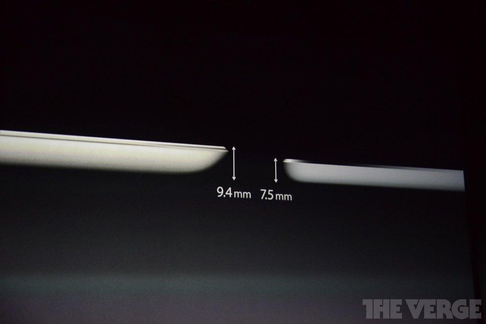 apple iPad air thickness