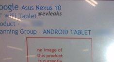 Asus als Hersteller des Nexus 10 (2013) erneut aufgetaucht