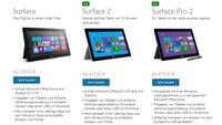 Microsoft entfernt das RT beim ersten Surface und versteckt den Desktop-Modus