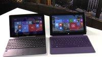 Vergleich: Asus Transformer Book T100 vs. Surface Pro 2