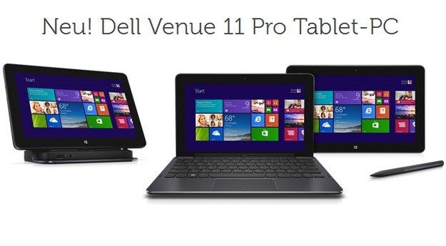 Dell Venue 11 Pro mit Intel Core i3-4020Y, 4 GB RAM &amp&#x3B; 128 GB SSD kostet 639€