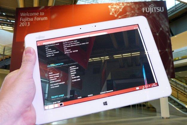 Fujitsu Stylistic Q584: 10,1 Zoll Tablet mit 2560 x 1600 Pixeln, Bay Trail & Stylus