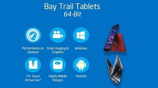 Intel: 64 Bit Windows 8.1 &amp&#x3B; Android Tablets mit Bay Trail Prozessoren ab Anfang 2014