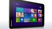 Lenovo Miix 2: Leichtes 8 Zoll Windows 8.1 Tablet kann vorbestellt werden