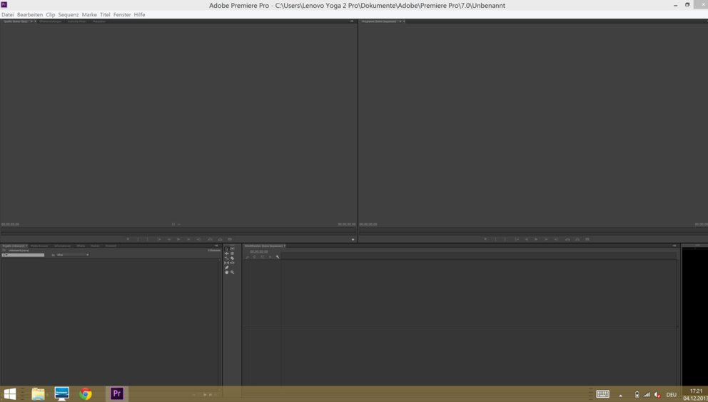 Adobe Premiere Pro mit QHD+ Auflösung