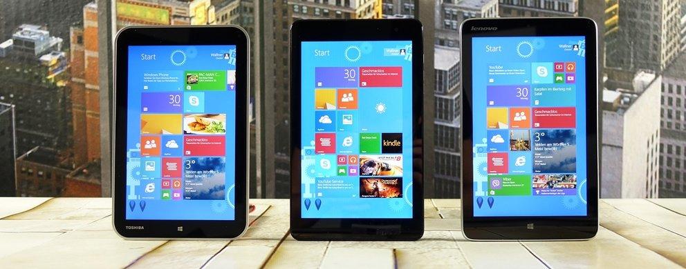 Vergleich: Dell Venue 8 Pro vs. Toshiba Encore vs. Lenovo Miix 2
