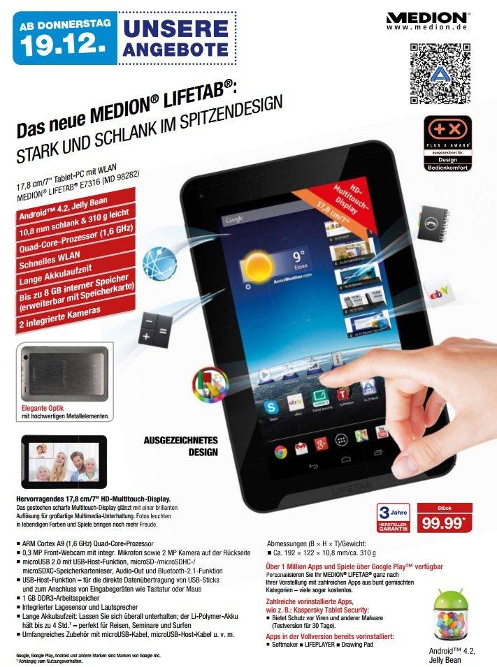 Medion Lifetab E7316 (MD 98282) prospekt