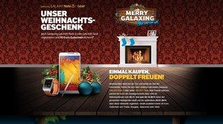 Merry Galaxing: Samsung Galaxy Note 3 oder Gear kaufen &amp&#x3B; 50€ Gutschein absahnen
