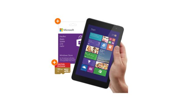 Dell Venue 8 Pro + 32 GB Speicherkarte & 25€ Windows Store Guthaben für 279€