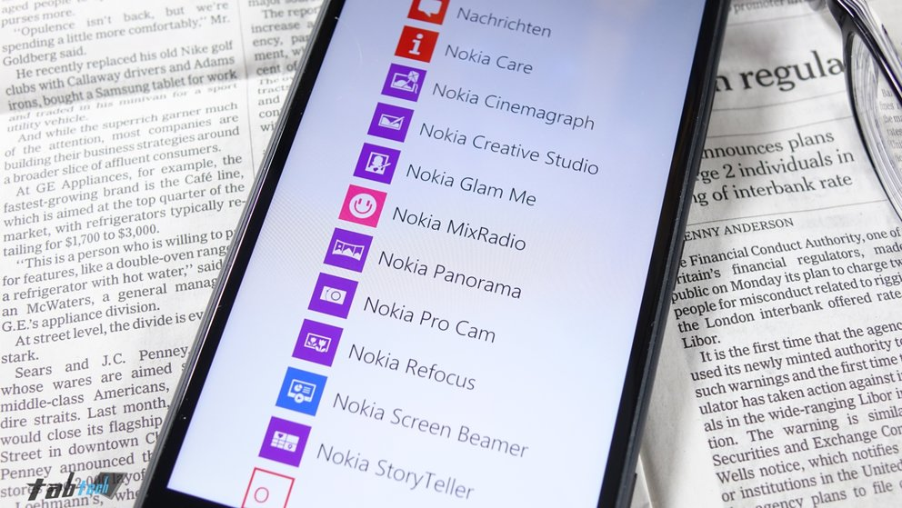 Nokia Apps auf Lumia 1520