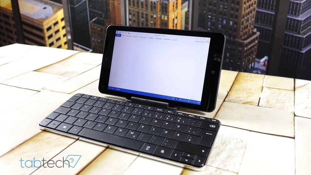 ThinkPad 8 mit Microsoft Wedge Keyboard