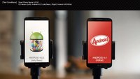 LG G2: Android 4.2.2 Jelly Bean vs. Android 4.4 KitKat im Video