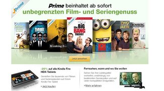 Amazon Kindle Fire HDX Tablets mit 20% Rabatt zum Start von Prime Instant Video