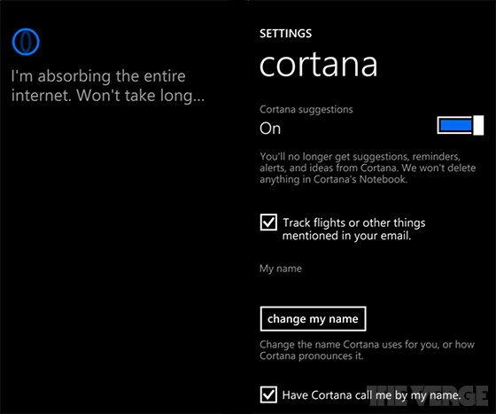 Microsofts Sprachassistent Cortana Windows Phone 8.1 einstellungen