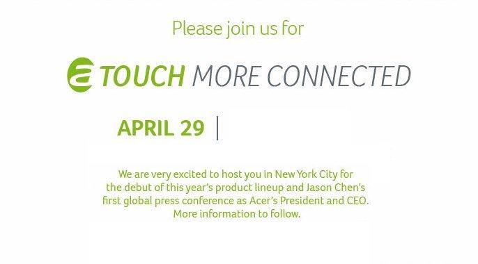 Acer Presse-Event am 29. April - Iconia W5 und W7 Tablets erwartet