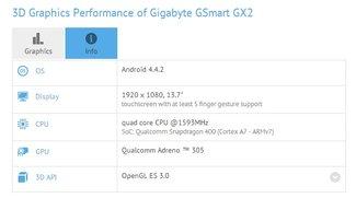 Gigabyte GSmart GX2: 13,7 Zoll Full HD Android Tablet aufgetaucht