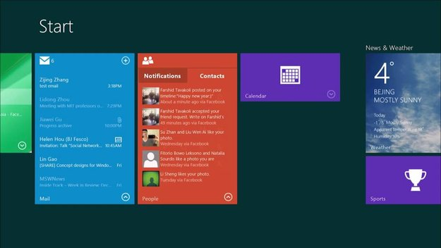 Microsoft arbeitet an Interactive Windows Live Tiles