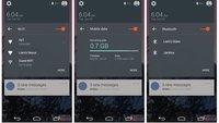 Android L-Version: Neue Quick Settings und Benachrichtigungen geleakt