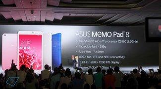 Asus MeMO Pad 8: Intel Bay Trail Z3580, 1920 x 1200 Pixel &amp&#x3B; LTE