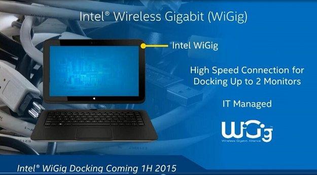 Intel WiGig: Drahtlose Dockingstation für 2-in-1 Tablets ab 2015