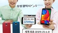 Samsung Galaxy S5 LTE-A mit 5,1 Zoll, 2560 x 1440 Pixel & Snapdragon 805 vorgestellt