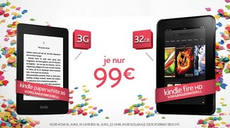Deals: Kindle Fire HD mit 32 GB &amp&#x3B; Paperwhite 3G für je 99€