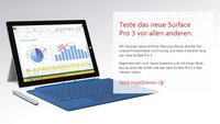 Surface Pro 3 als Produkttester vor dem Marktstart testen
