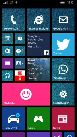 Lumia 930 Homescreen